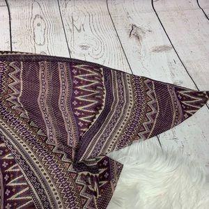 Tobi Tops - Tobi Aztec Print Open Cardigan Shrug Sz S